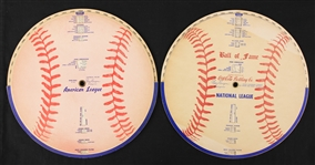 1955-61 American & National League Ball of Fame League Leader Wheels - Lot of 2