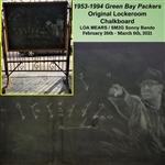 1953-1994 Green Bay Packers Original Lockeroom Chalkboard - LOA MEARS / SM2G Sonny Bando