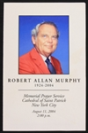 2004 Robert Allan Murphy New York Mets Radio Broadcaster Funeral Service Program