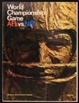 1967 Green Bay Packers Kansas City Chiefs AFL NFL World Championship Game Super Bowl I Los Angeles Memorial Coliseum Game Program