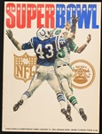 1969 New York Jets Baltimore Colts Super Bowl III Orange Bowl Game Program