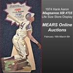 1974 Hank Aaron Atlanta Braves Magnavox Advertising HR #715 Display Die Cut Sign