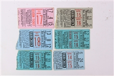 1956-59 Milwaukee Braves Milwaukee County Stadium Opening Day Ticket Stubs - Lot of 6