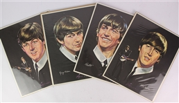 "1964 John Lennon Paul McCartney George Harrison Ringo Starr The Beatles 14"" x 18"" Volpe Prints - Set of 4"