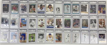 1980s-2010s Baseball Football Basketball Trading Cards - Lot of 750+ w/ 150+ Slabbed