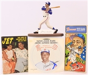 1970s-90s Hank Aaron Milwaukee Braves Memorabilia Collection - Lot of 25+ w/ Signed Gartlan Figure, Publications & More (JSA)