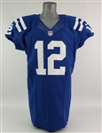 2012 Andrew Luck Indianapolis Colts Signed Rookie Game Worn Home Jersey (1st Career Rushing TD, 1st Q4 Comeback: MEARS A10/Resolution & PSA/DNA)