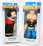1990 Popeye and Olive Oyl MIB Toy Toons Stuffed Figures - Lot of 2