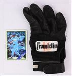 1980s Black Franklin #16 Game Worn Batting Glove (MEARS LOA)