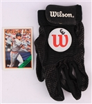 1990s Wilson #3 Game Worn Batting Glove (MEARS LOA)
