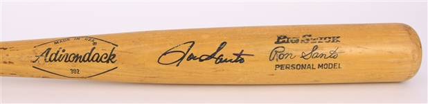 1974 Ron Santo Chicago White Sox Signed Adirondack Professional Model Game Used Bat (MEARS A9/JSA)