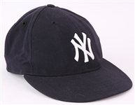2003 New York Yankees #38 Game Worn Cap w/ USA Flag Patch (MEARS LOA/Steiner)