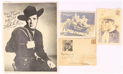1940s-50s Hollywood Photos - Lot of 4 w/ Lash La Rue Signed Photo, Hal Roachs Rascals Our Gang Photo & Ken Maynard Photo