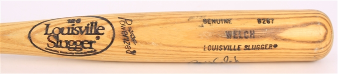 1986-87 Bob Welch Los Angeles Dodgers Signed Louisville Slugger Professional Model Game Used Bat (MEARS LOA/JSA)
