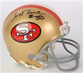 2000s Jerry Rice San Francisco 49ers Signed Mini Helmet (Beckett)