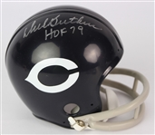 2000s Dick Butkus Chicago Bears Signed Mini Throwback Helmet (JSA)