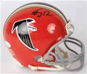 2016-19 Mohamed Sanu Atlanta Falcons Signed Mini Helmet (*JSA*)