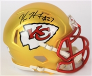 2017-18 Kareem Hunt Kansas City Chiefs Signed Blaze Mini Helmet (PSA/DNA)