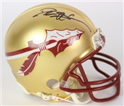 2017 Deion Sanders Florida State Seminoles Signed Mini Helmet (*JSA*)
