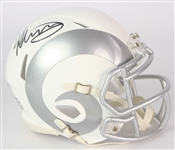 2018 Todd Gurley Los Angeles Rams Signed Ice Mini Helmet (Beckett)