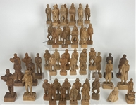 1940s-50s RA Struck Carved Wooden Figure Collection - Lot of 100+