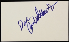 1990s Dan Castellaneta Voice of Homer Simpson Signed Index Card (JSA)