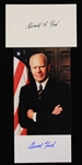 2000s Gerald Ford 38th President of the United States Signed Photo & Index Card - Lot of 2 (JSA)