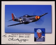 "2000s Chuck Yeager Fighter Pilot Signed 8"" x 10"" Photo (JSA)"