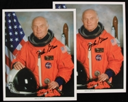 "2000s John Glenn NASA Astronaut Signed 8"" x 10"" Photos - Lot of 2 (JSA)"