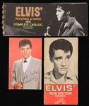 1960s-70s Elvis Presley King of Rock N Roll Memorabilia - Lot of 3 w/ Postcard & Record Guides