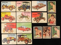 1951-54 Topps Ringside & World On Wheels Trading Cards - Lot of 15
