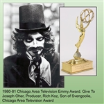 1980-81 Chicago Area Television Emmy Award Joseph Oher, Producer, Rich Koz, Son of Svengoolie, Chicago Area Television Award
